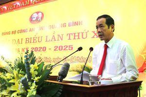 Đảng bộ Công an tỉnh Quảng Bình tổ chức thành công Đại hội Đại biểu lần thứ XXI, nhiệm kỳ 2020- 2025