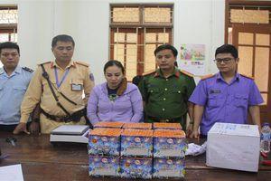 Nghệ An: Bắt nữ quái 'cõng' 2kg ma túy kèm 30 kg pháo
