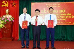Trao Quyết định điều động, chỉ định Bí thư, Phó Bí thư Thị ủy Hoàng Mai