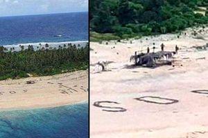 Được giải cứu khỏi đảo hoang nhờ viết chữ SOS trên cát
