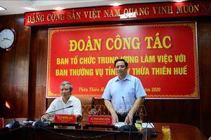 Trưởng Ban Tổ chức Trung ương làm việc với Tỉnh ủy Thừa Thiên-Huế