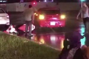 Triệu tập tài xế lùi xe ôtô tông nhiều phương tiện rồi bỏ chạy