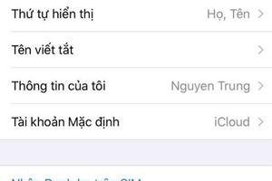 Cách chuyển danh bạ từ thẻ Sim sang iPhone