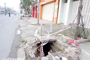 Nhiều nắp cống hỏng trên đường Phạm Văn Thuận