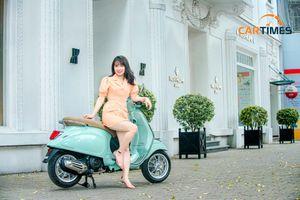 Vespa Primavera 'cá tính' dạo phố cùng thiếu nữ Hà Thành