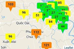 Nhiều khu vực ngoại thành có chất lượng không khí ở mức kém