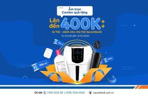 Chủ thẻ Sacombank và tài khoản Sacombank Pay được hưởng nhiều ưu đãi khi mua sắm trên Tiki