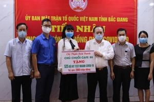 Bắc Giang: Tiếp nhận ủng hộ phòng dịch Covid-19