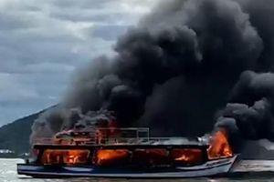 Tàu Phương Nam 6 bị bốc cháy trên vùng biển Kiên Giang đã hết hạn đăng kiểm