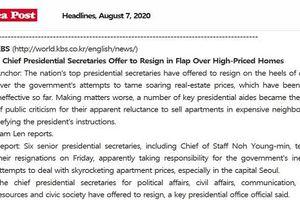 6 thư ký cấp cao của Tổng thống Hàn Quốc đệ đơn từ chức