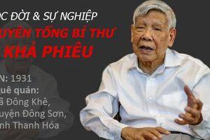 Infographic: Cuộc đời và sự nghiệp của nguyên Tổng bí thư Lê Khả Phiêu