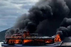 Thông tin bất ngờ về chiếc tàu khách cháy ngùn ngụt ở biển Kiên Giang