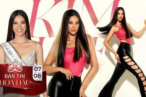 Fan ủng hộ Kim Duyên mang style tóc thẳng rẽ ngôi - mắt sắc lẹm 'chinh chiến' Miss Universe