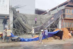 Sập sàn bê tông trần nhà khi vừa mới đổ xong