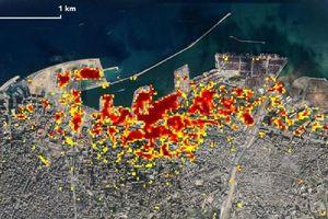 Vụ nổ Beirut nhìn từ vệ tinh