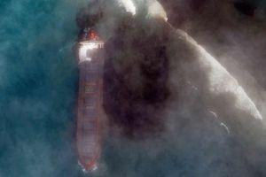 Ảnh vệ tinh cho thấy vệt đen ở nơi nhạy cảm trên Ấn Độ Dương