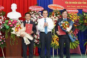Bình Thuận có tân Chánh án, Phó chánh án tòa tỉnh