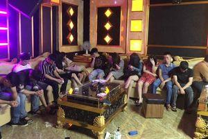 Bắt quả tang 13 thanh niên dùng ma túy tập thể trong quán karaoke