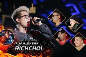 'Sư tử' RichChoi bùng nổ King of Rap, fan khẳng định 'chắc suất vào chung kết' dù chỉ mới vòng loại
