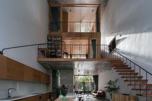 Ngôi nhà 'ruộng bậc thang', mẹ nấu ăn ở tầng 1 có thể nhìn thấy con ở tầng 3