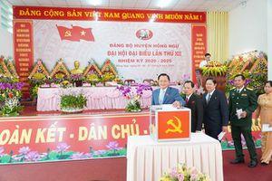 Đồng chí Nguyễn Hùng Tráng tái đắc cử chức Bí thư Huyện ủy Hồng Ngự khóa XII