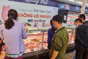 Hai hệ thống siêu thị lớn khởi xướng chương trình bán thịt lợn tươi không lợi nhuận