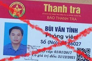 Lái xe mua 'thẻ phóng viên' giá 3 triệu đồng