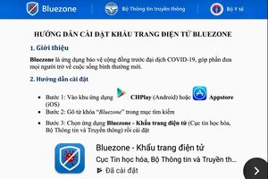Bluezone bảo mật, ẩn danh, không thu thập vị trí thiết bị