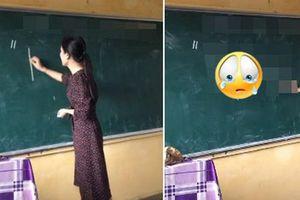 Kết thúc buổi học, cô giáo viết dòng chữ này lên bảng khiến học sinh cuối cấp bật khóc vì xúc động