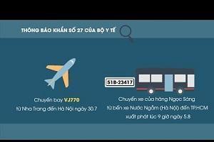 Bộ Y tế ra thông báo khẩn tìm những hành khách đi chuyến bay VJ770 từ Nha Trang đi Hà Nội ngày 31/7