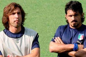 Gattuso 'trù ẻo' Pirlo trong ngày lên làm HLV Juventus