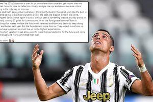 Cristiano Ronaldo viết tâm thư sau khi nếm 'trái đắng' ở Champions League