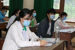 Thí sinh Đắk Nông làm tốt bài thi với các điều kiện chống dịch đảm bảo