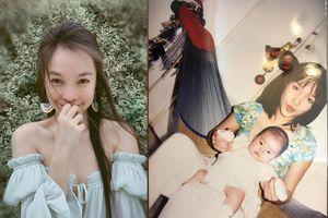 Hiền Thục lần đầu chia sẻ ảnh tuổi đôi mươi bên con gái nhỏ 1 tháng tuổi