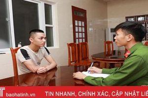 Bị bắt khi từ Hà Nội về Hà Tĩnh trốn nã