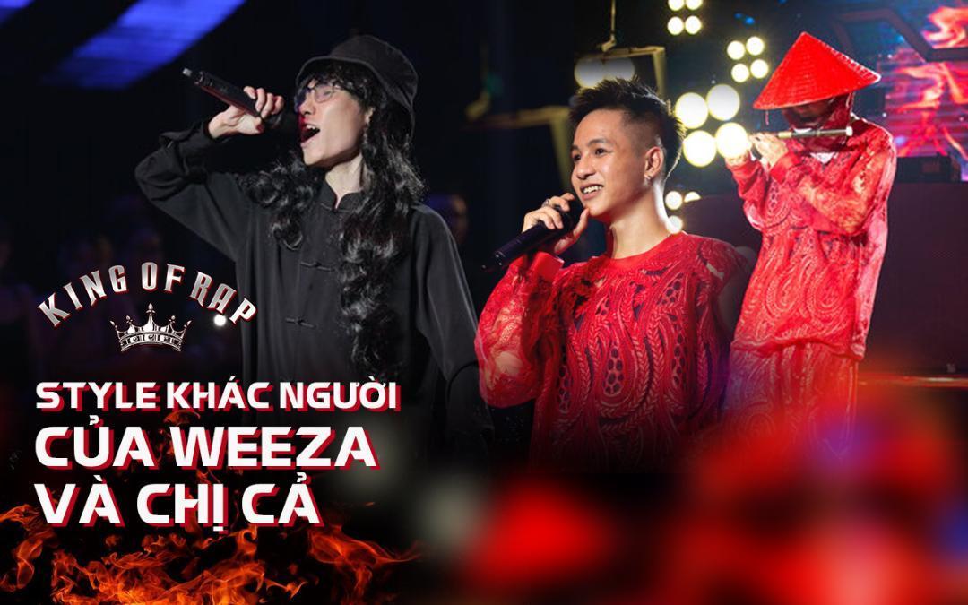 King Of Rap 2020: Weeza và Chị Cả khiến khán giả tròn mắt với style khác người