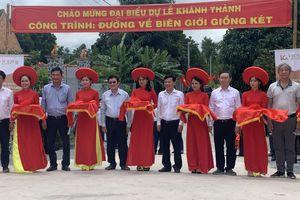 Long An: Khánh thành 13,2km đường về biên giới Giồng Két