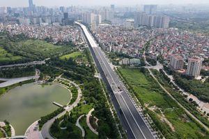 Ngắm nhìn cầu cạn vành đai 3 Mai Dịch - Nam Thăng Long dần hoàn thiện