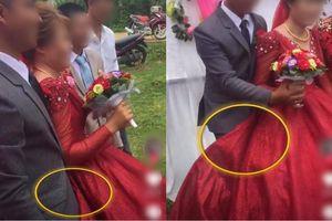 Chú rể nhất định núp váy cô dâu, hóa ra là vì chuyện khó nói này