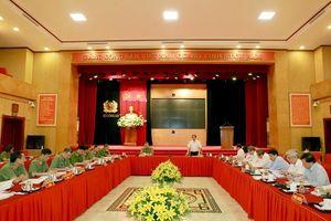 Đồng chí Phạm Minh Chính, Ủy viên Bộ Chính trị, Bí thư Trung ương Đảng, Trưởng Ban Tổ chức Trung ương làm việc với Ban Thường vụ Đảng ủy Công an Trung ương