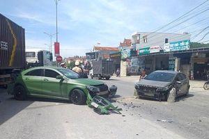 Truy tìm chiếc xe ben tông xe Mercedes gây tai nạn liên hoàn rồi bỏ chạy