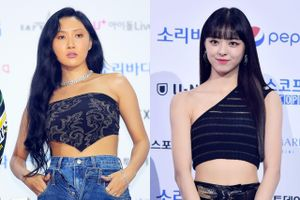 Hwasa quấn khăn thành áo, Yuna mặc crop top khoe eo thon