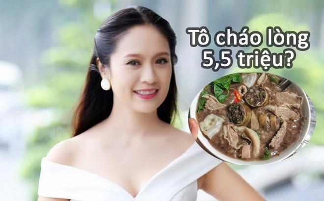 Diễn viên Thanh Thúy xót ví vì tô cháo lòng giá 5,5 triệu đồng