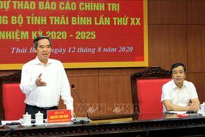 Thái Bình nghiêm túc, cầu thị trong xây dựng văn kiện Đại hội Đảng bộ tỉnh