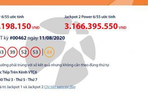 Kết quả xổ số Vietlott Power 6/55 tối ngày 13/8/2020: Những ai vừa trúng hơn 40 tỉ đồng?