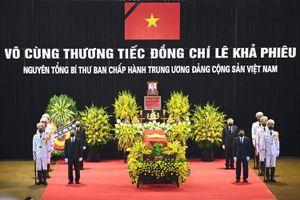 Lãnh đạo cấp cao viếng nguyên Tổng bí thư Lê Khả Phiêu