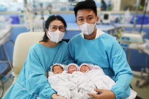 Sản phụ 22 tuổi mang tam thai tự nhiên hiếm gặp