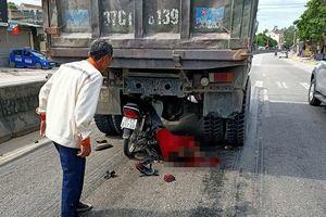 Đâm vào đuôi xe tải, nam thanh niên gặp tai nạn thương tâm