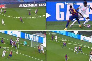 Sao trẻ của Bayern kiến tạo sau khi vượt qua 4 cầu thủ Barca