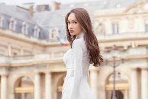 Fan Việt nức lòng trước bộ ảnh áo dài trắng tại kinh đô thời trang Paris của Hoa hậu Hương Giang